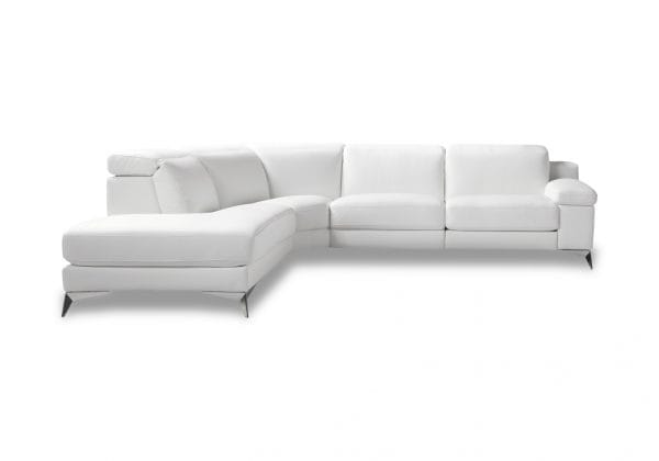 Harmony Leather Sofa with chaise on left